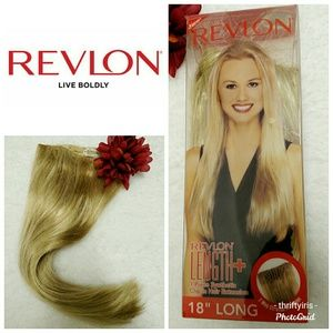 NWT-Revlon-Dark Blond Synthetic Hair Cap W/Clips💇
